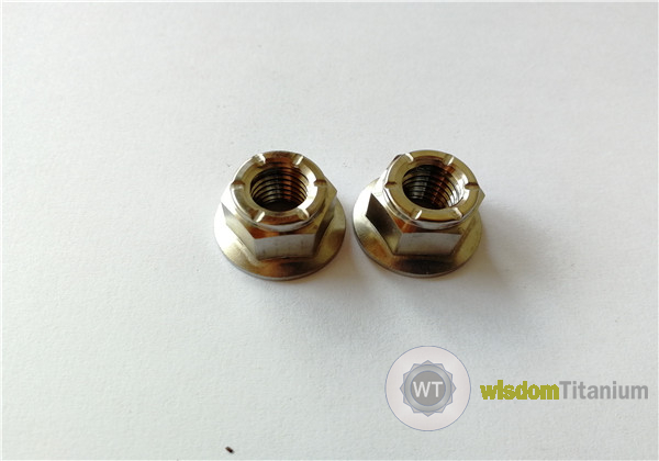 Titanium Hex Flange All Metal Lock Nuts M10