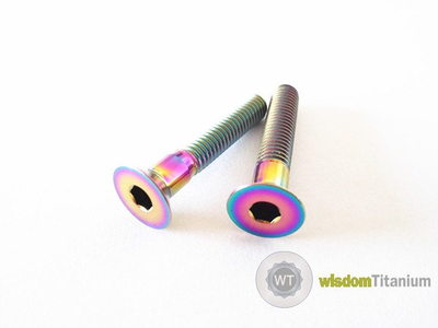 Headset Cap Screw Titanium Grade 5 in Rainbow