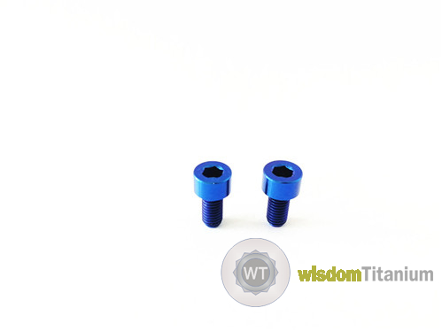 6mm Titanium Bolt DIN 912 Blue